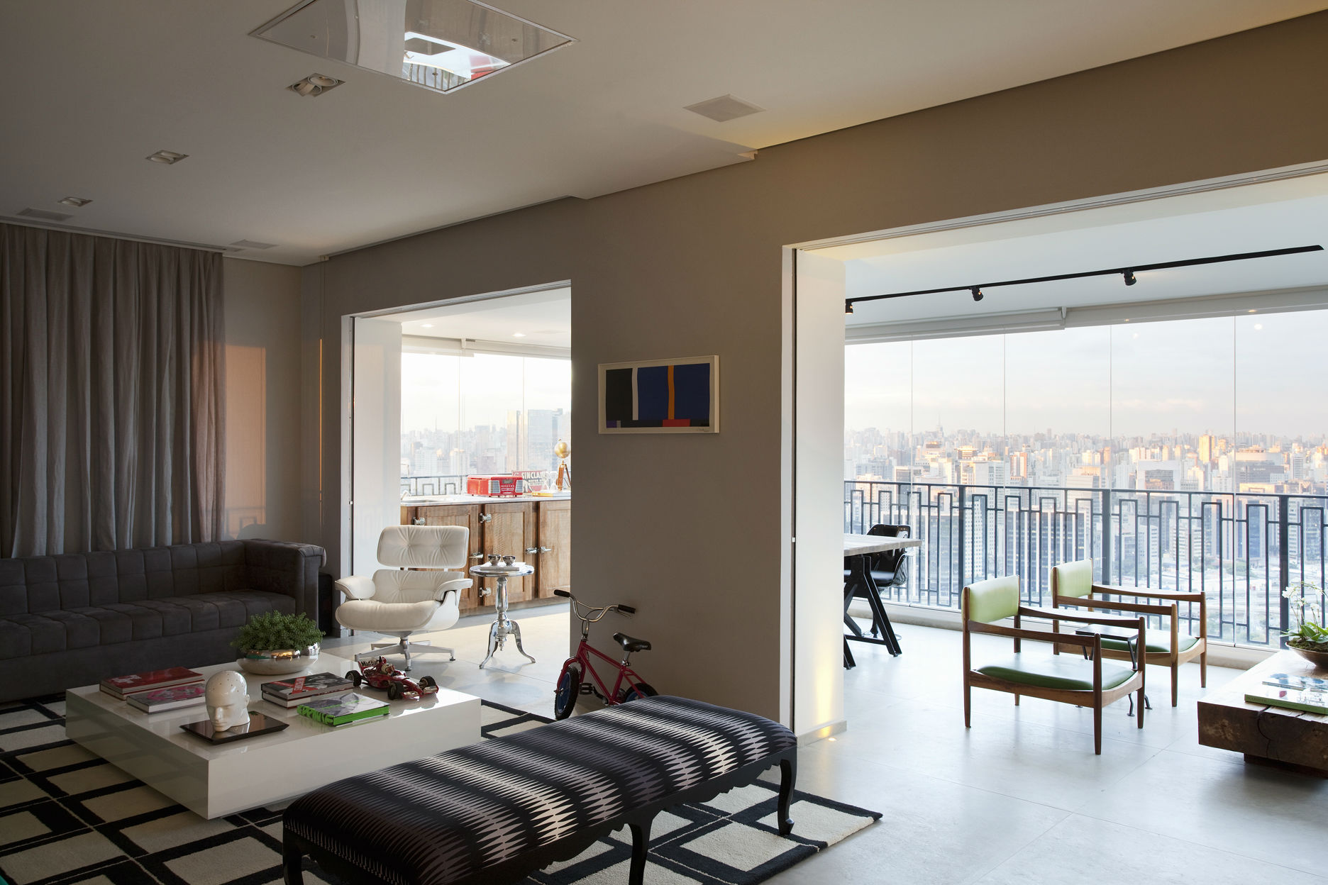 Varanda Integrada Sala O Novo Living Casa Casada