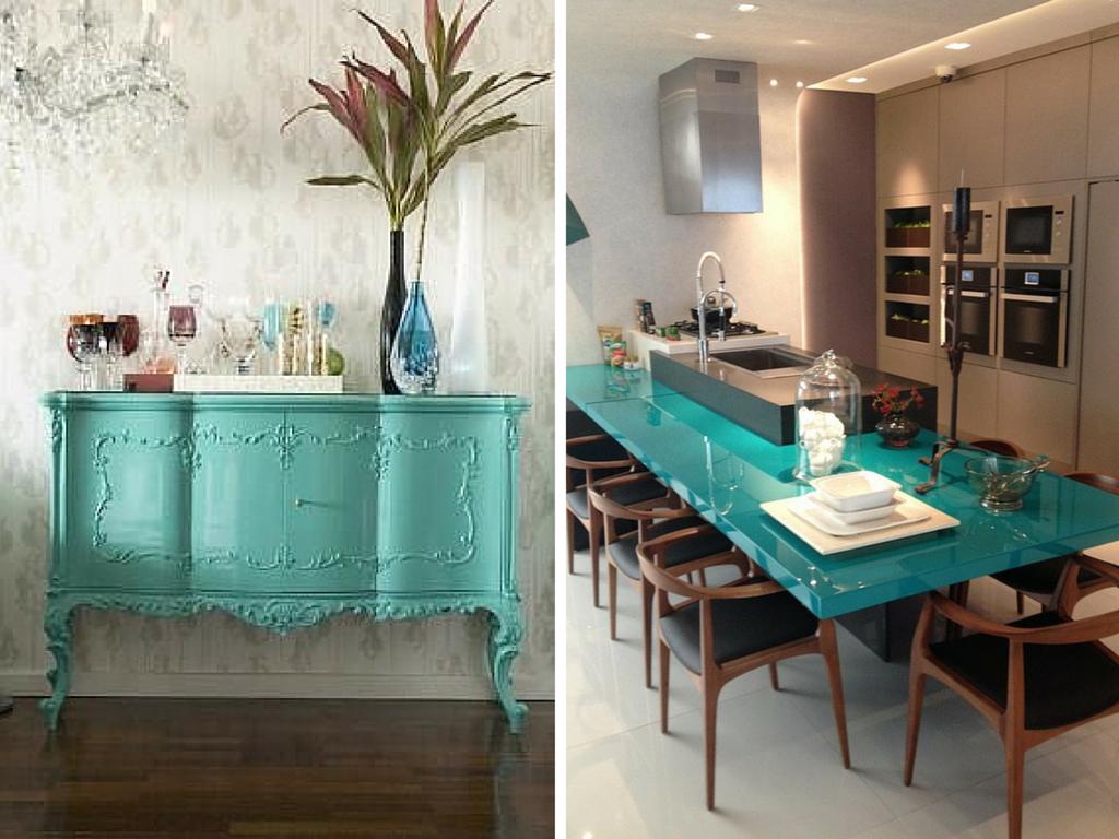 decoracao de sala azul turquesa:Azul tiffany na decoração – dicas  #3B7C76 1024x768