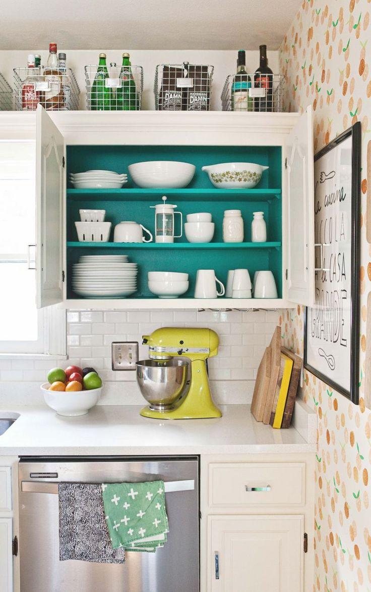 armário colorido, cozinha, dicas