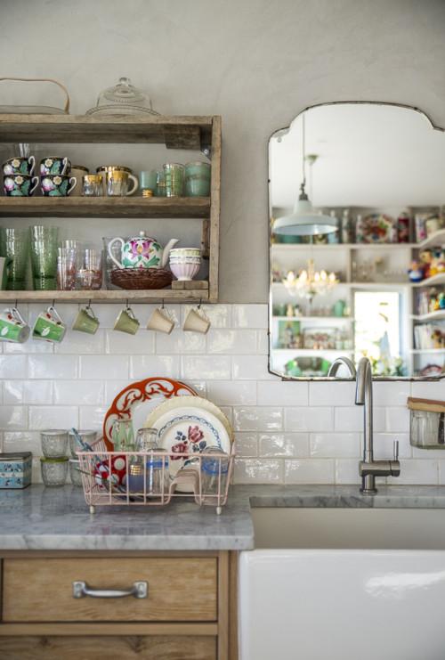 cozinha textura espelho