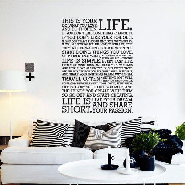 manifesto holstee, decoration