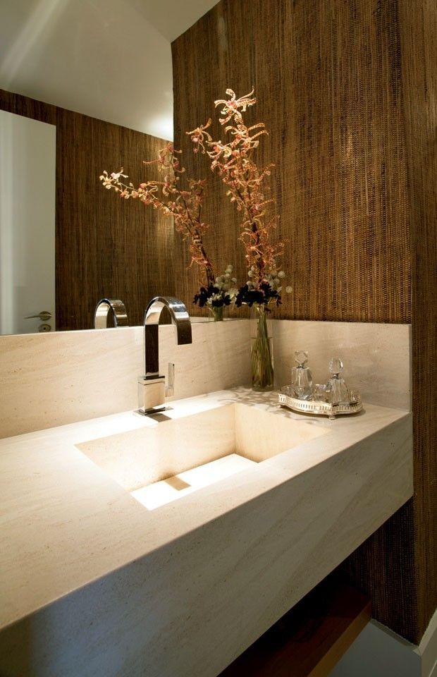 Decora o do lavabo ideias e inspira es para esse espa o t o pequeno mas t o importante - Fotos lavabos modernos ...
