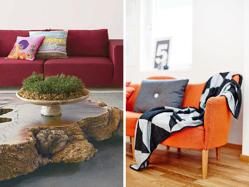sofa colorido, sala, living, casa casada