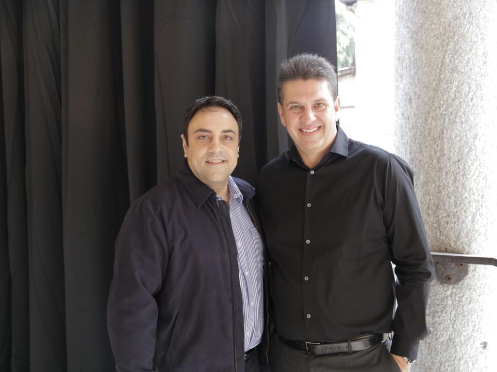 Luiz Cláudio Began, da Baccarat, e Lauro Andrade Filho, diretor da High Design Expo