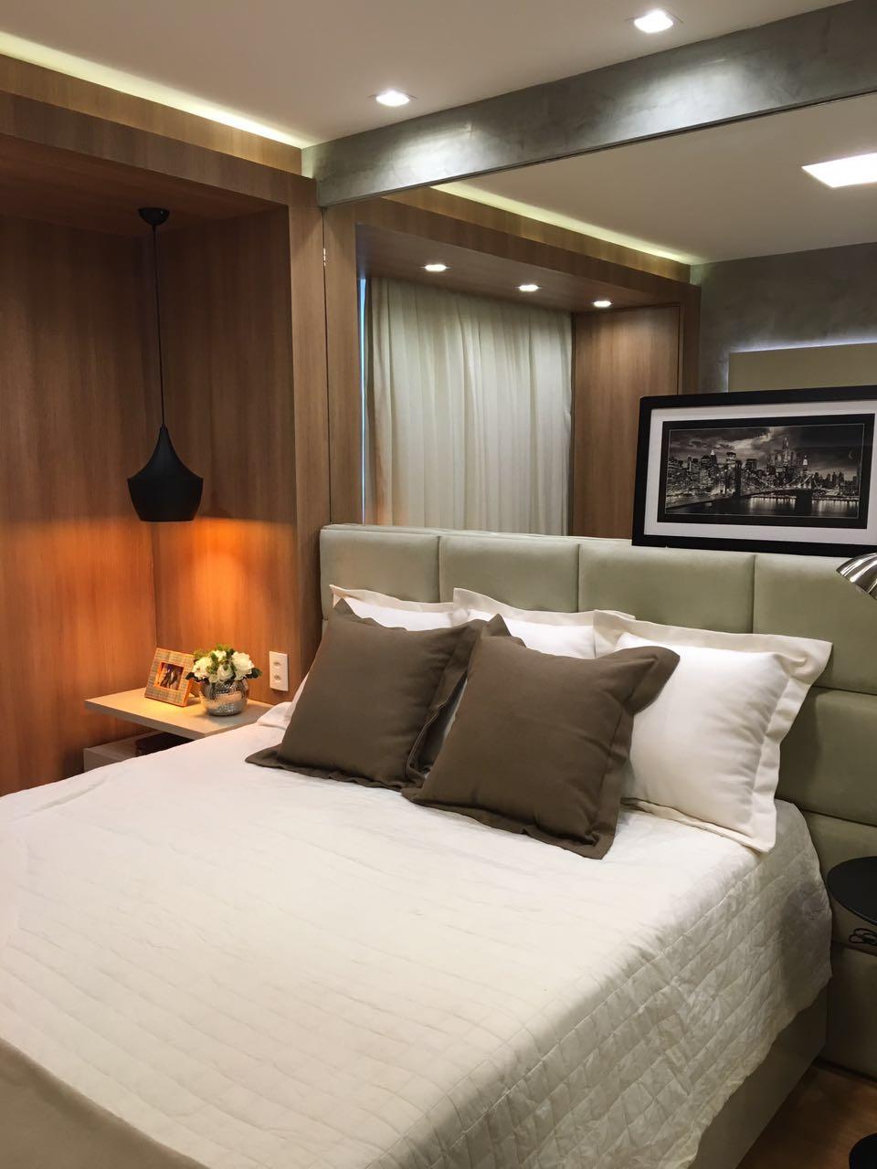 Decora O De Apartamento De 50m2 Super Compacto Mais Muito Bem  ~ Quarto Decorado Casal Pequeno E Quarto De Visita Pequeno