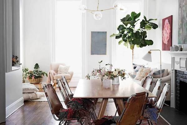 Living, estilo escandinavo, casa casada