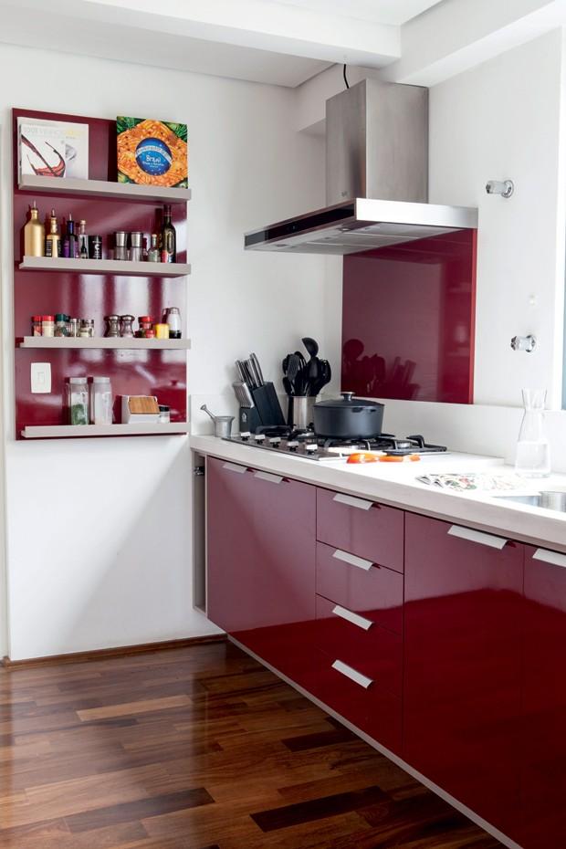 cozinha armário colorido