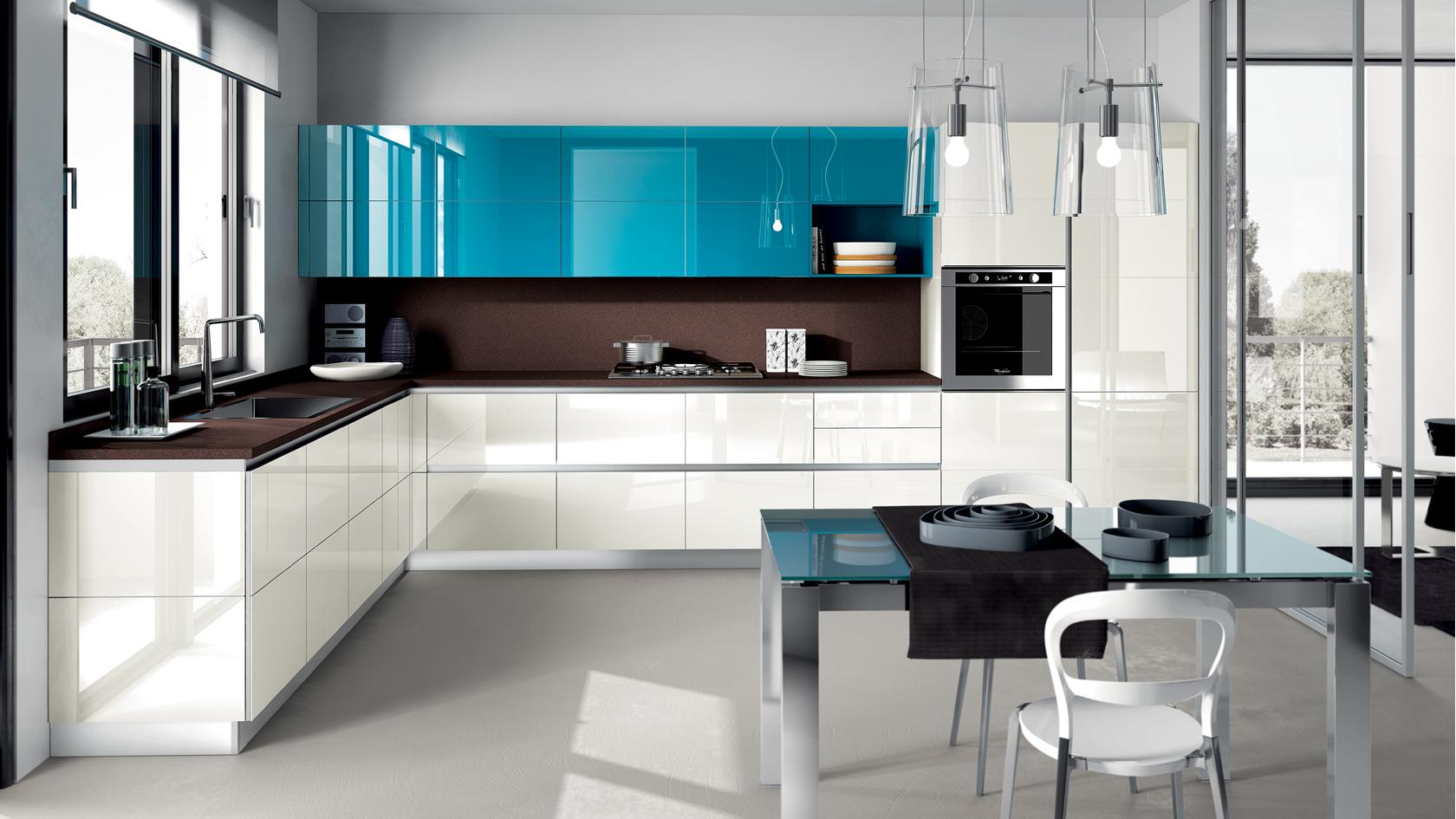 Azul tiffany na cozinha 8 ambientes para voc se inspirar - Azul turquesa pared ...
