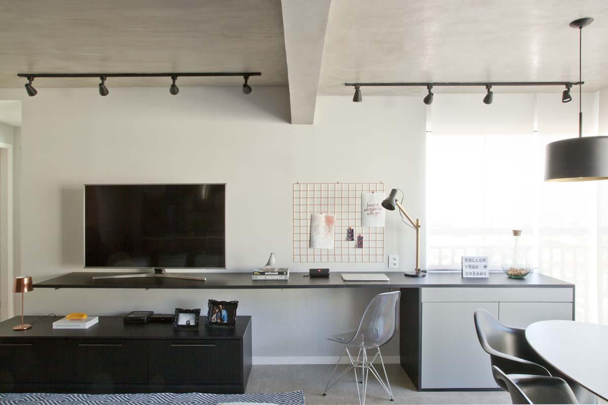 Ambientes integrados e décor com toques retrô e industriais (9)